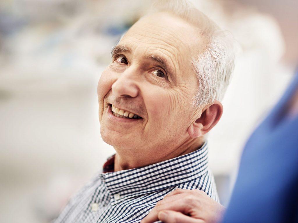 male senior resident