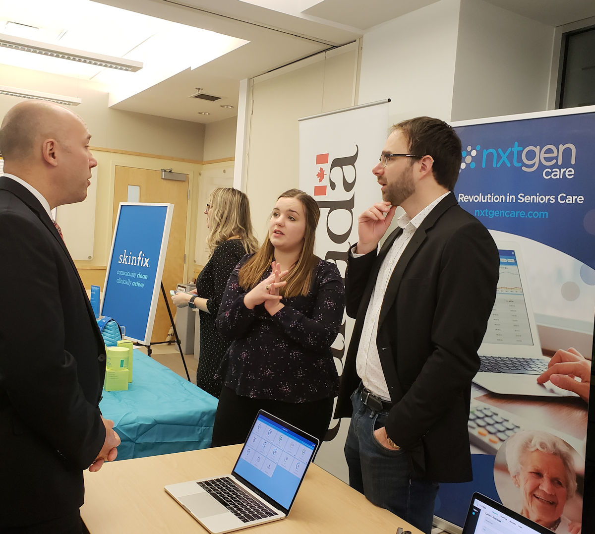 Nxtgen Care Team speaking with a stakeholder