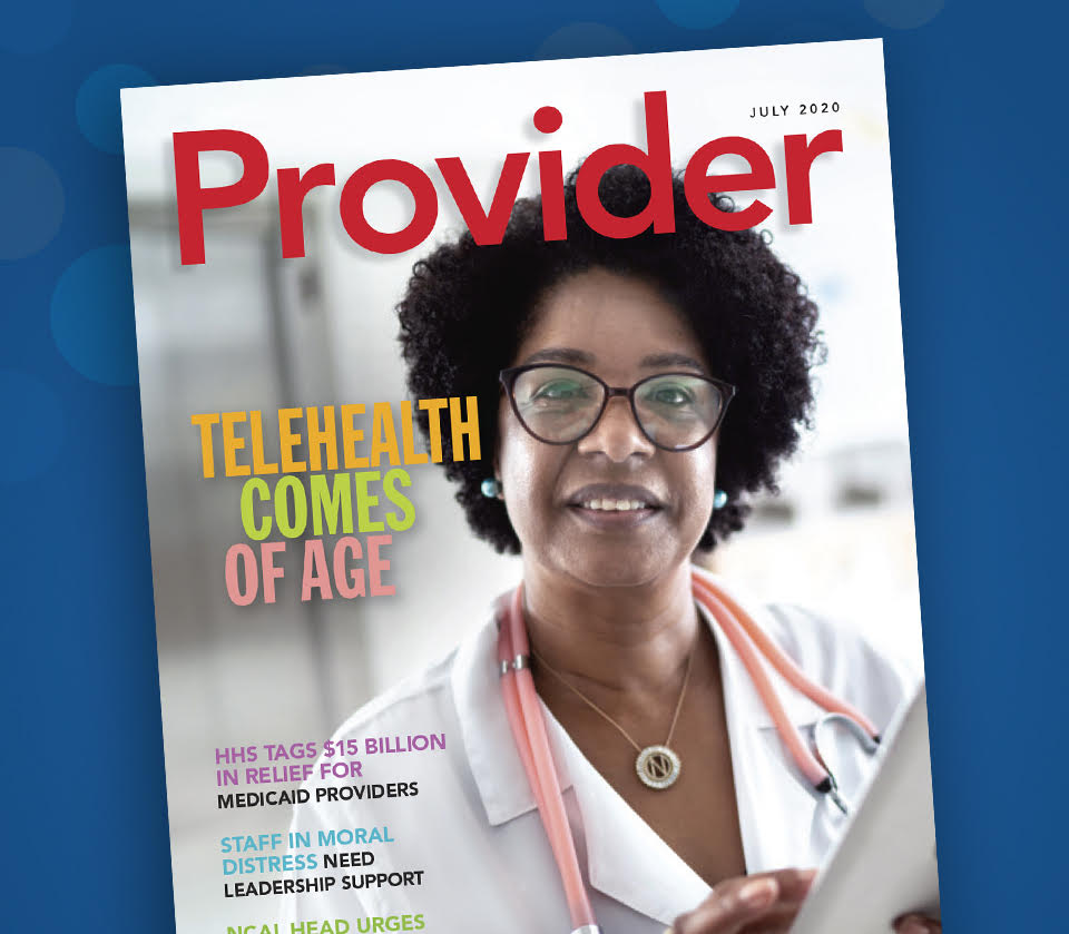 Health Care worker - Provider magazine COVID-19 Technology